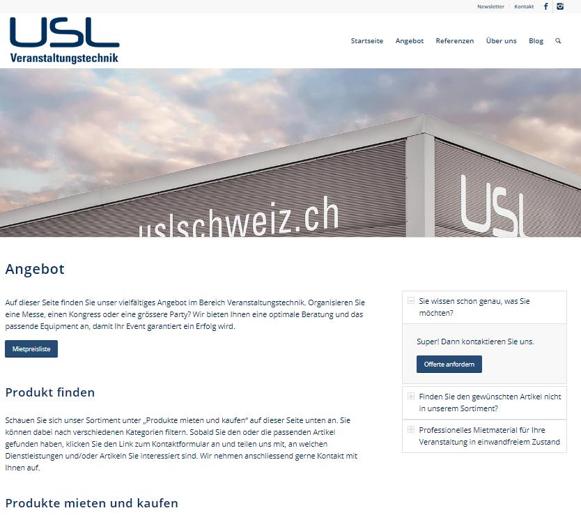 Angebot USL Veranstaltungstechnik