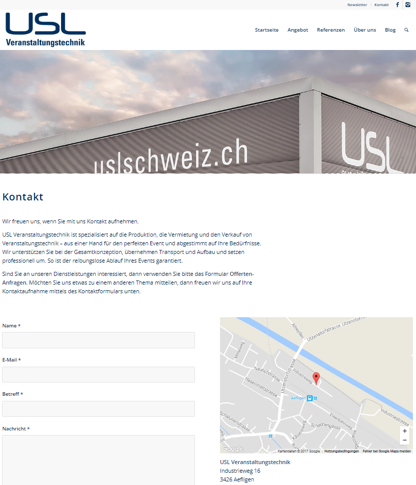 Kontakt USL Veranstaltungstechnik
