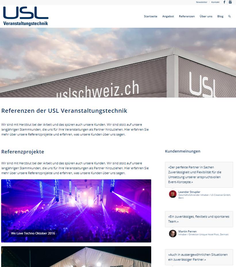 Referenzen USL Veranstaltungstechnik