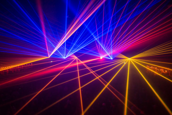 Lasershow, Party, Pioneer, Lighteffects and Partypeople
