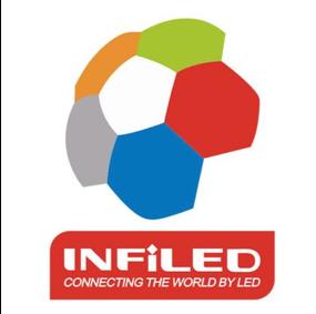 LED Leinwand Logo Infield