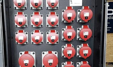 USL Veranstaltungstechnik mit dem hochwertigen Stromberteiler der Firma INDU Electric Gerber GmbH