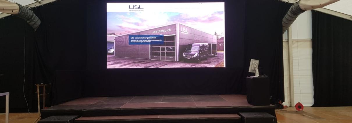 LED Screen Wand von USL Veranstaltungstechnik. Ihr Partner für den perfekten Event