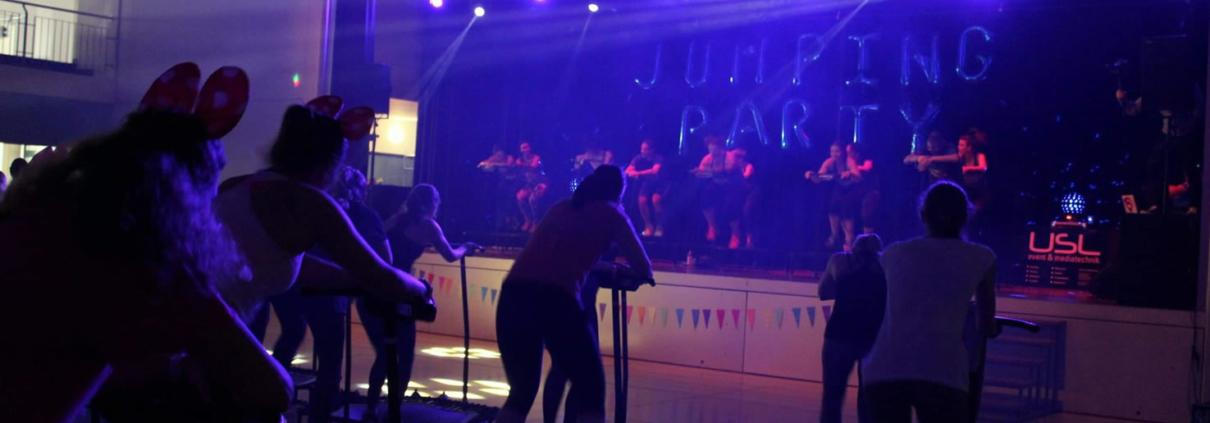 USL Veranstaltungstechnik im Einsatz für Michaela EF und Ihre Jumping Fitness Party