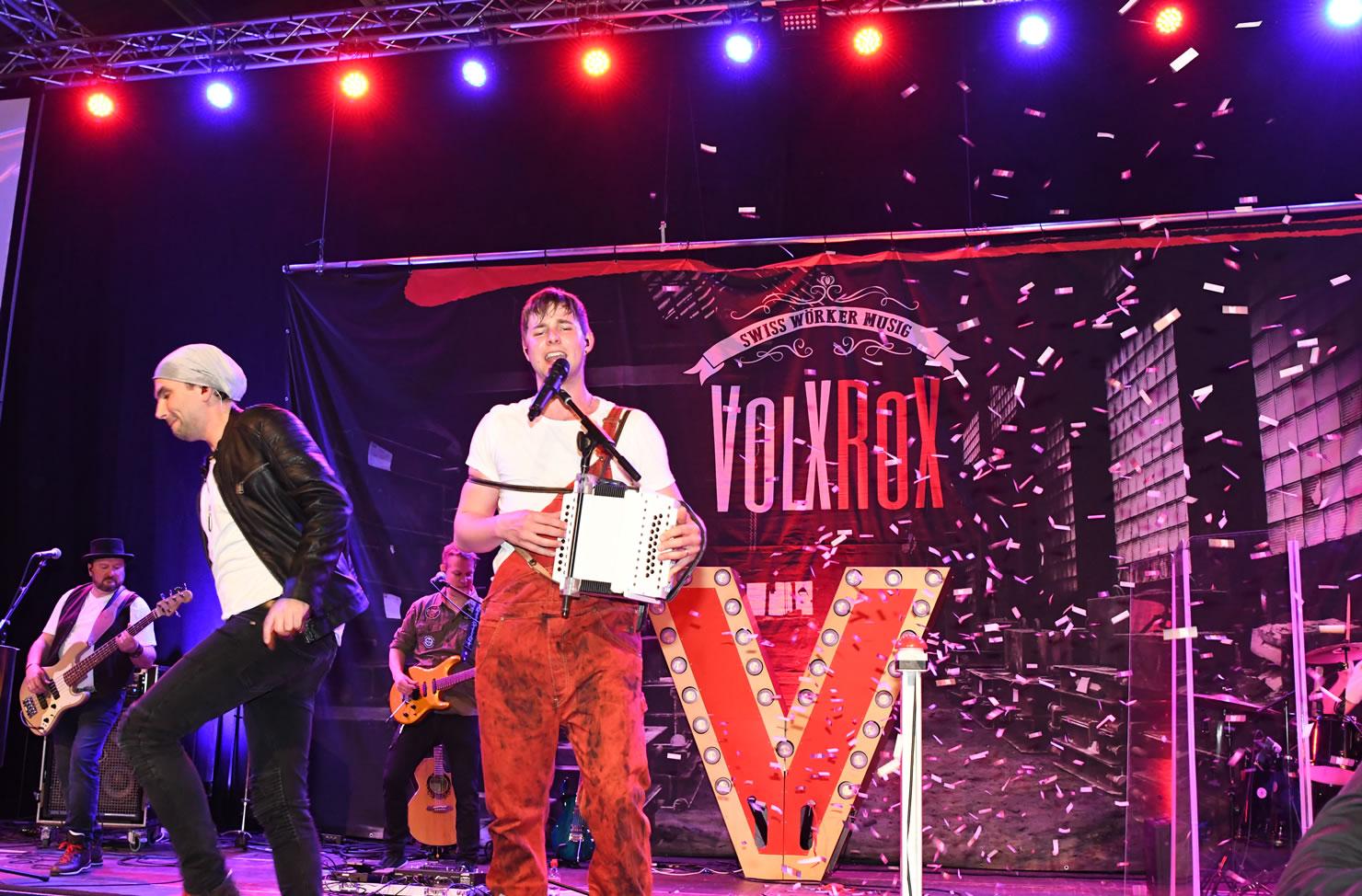 Für VolXRox unterwegs. USL Veranstaltungstechnik betreut auch Ihre Band