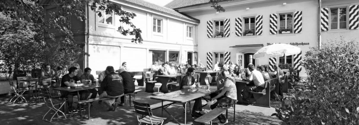 Das Schützenhaus in Burgdorf. Der Traditionsbetrieb rüstet die Technik auf mit USL Schweiz