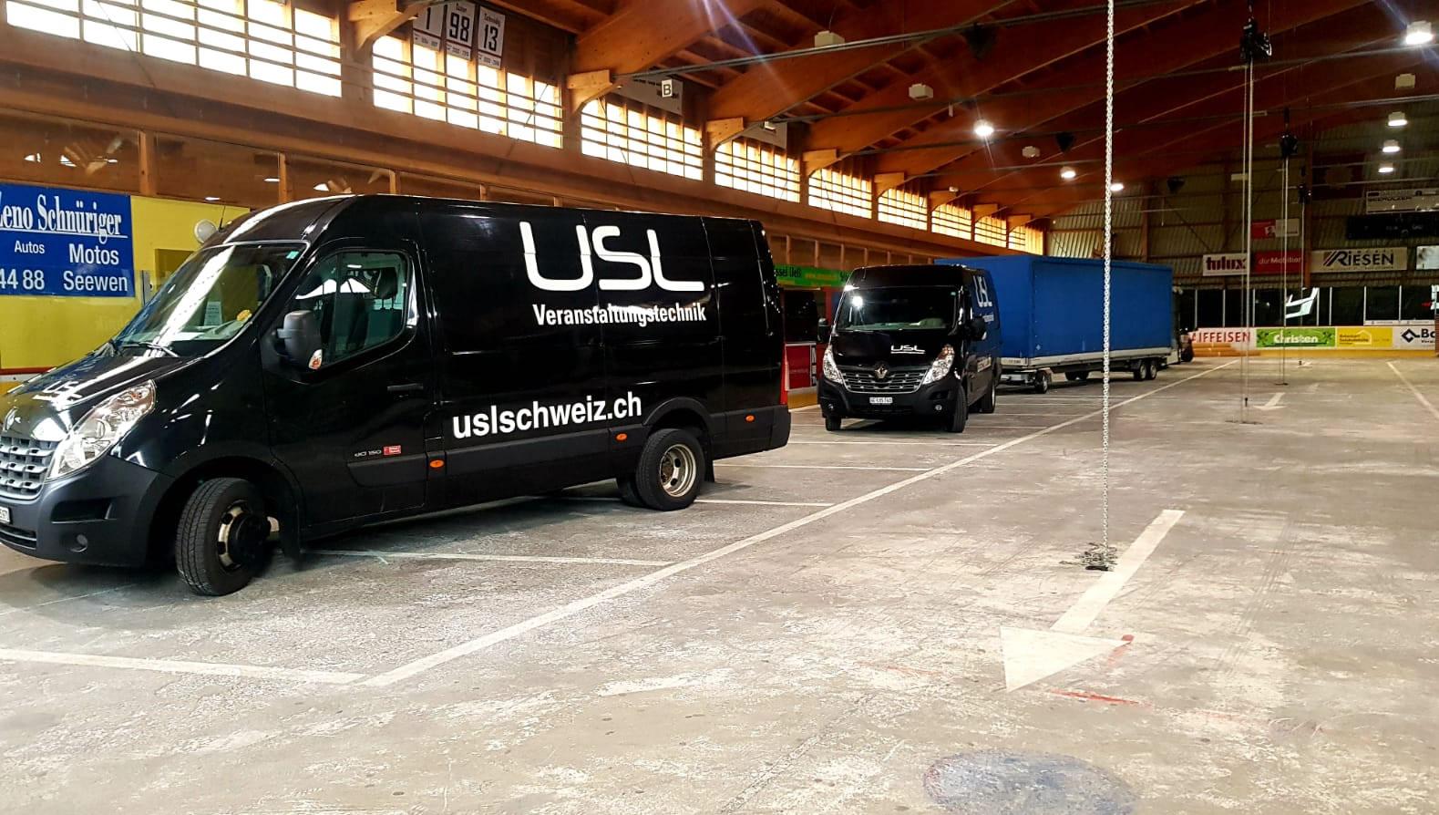 Veranstaltungstechnik für jeden Anlass. USL Schweiz sorg für Spannung an Ihrem Anlass