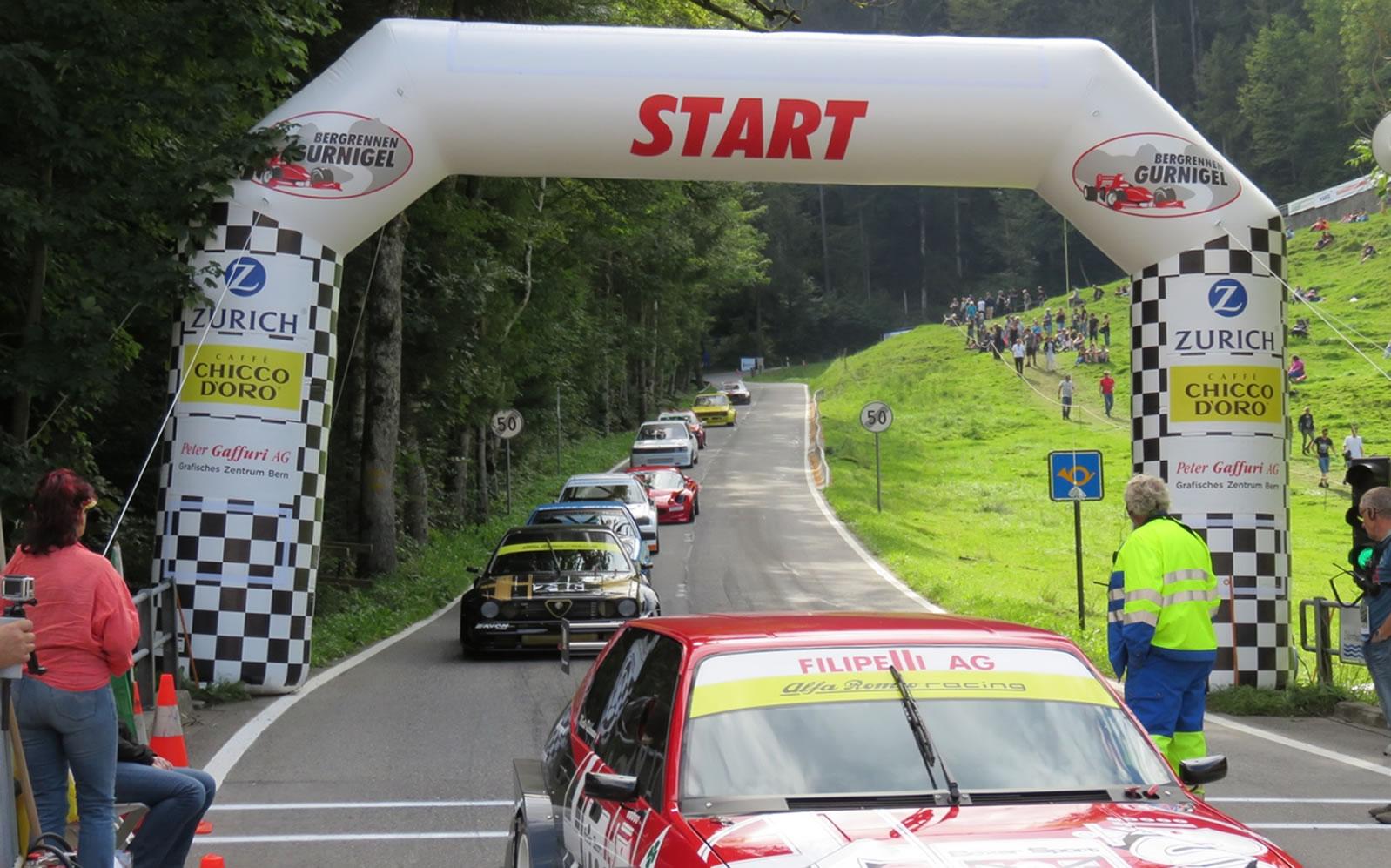 Autorennen und spannende Fahrzeuge am Gurnigel Bergrennen 2019